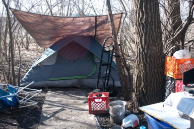 I never expected to find Indianapolis residents spending the winter in tents.