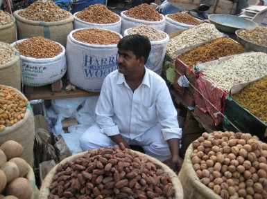 One of the vendors I met in the Old Delhi spice market.