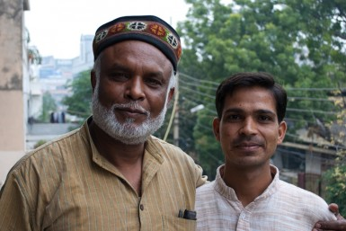 Sunil (left), with one of the many young leaders being influenced by Truthseekers.
