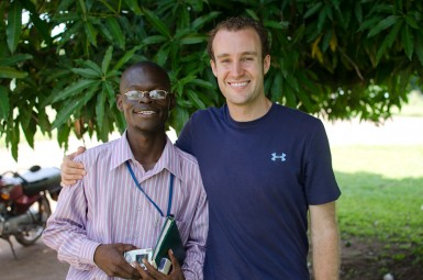 Me with Gismala, one of the young leaders I met in Yei.