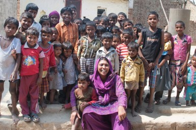 Tanuja started a school for children of all castes in Maiath,