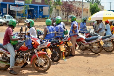 Many Kabuga graduates have become successful moto-taxi drivers.