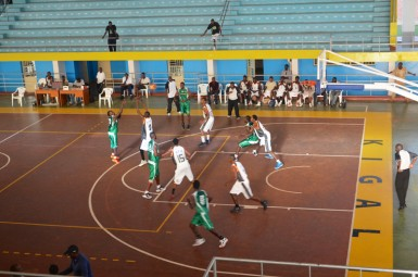 As you can see by the number of roaring fans, basketball isn't quite as popular in Rwanda as in Indiana.