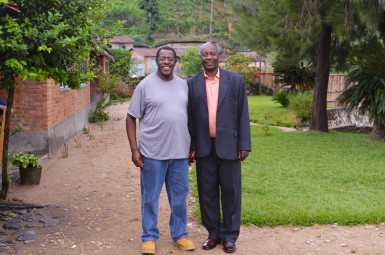 Pastor Leonard with Celestin, founder of ALARM.