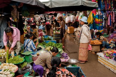 Cambodian markets – where scarves, dragon fruit, chicken breast, and gold jewelry can be bought in a single stop.