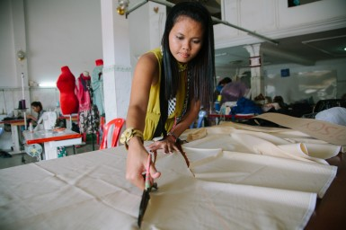 The sewing instructor for The Imprint Project, Pisei, has an amazing story of her own.