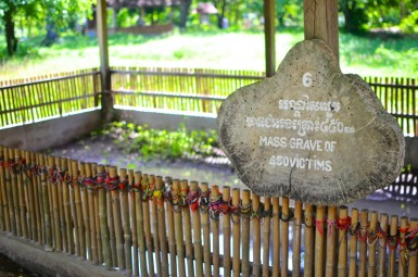 A mass grave at the Killing Fields