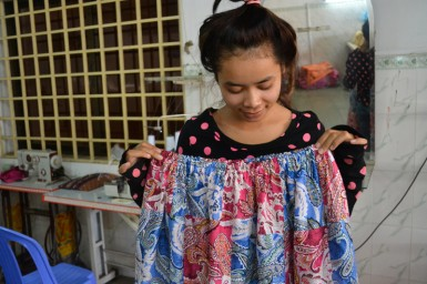 The girls of the Imprint Project have become amazing seamstresses.