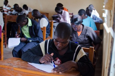 CLISS students taking an exam.