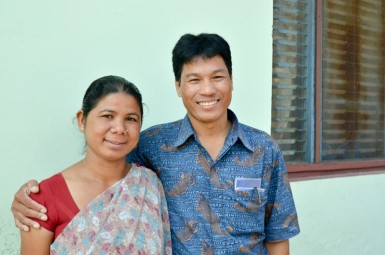 Pastor Bhoj and his wife Gopee, who oversee the Bhairahawa border station along with the church subcommittee