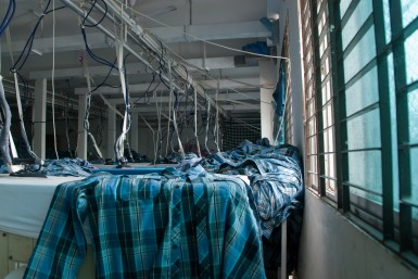 The factory was clean, well-lit, and filled with more clothes than I could possibly imagine. Photo by Brad Miller