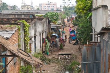 Duaripara slum, where the unwanted and the unfortunate struggle to survive. Photo by Brad Miller