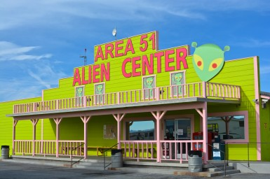 An alien-themed brothel in Nye County.
