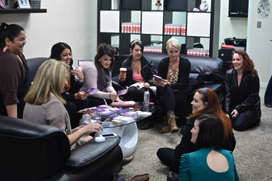 A Cupcake Girls team meeting