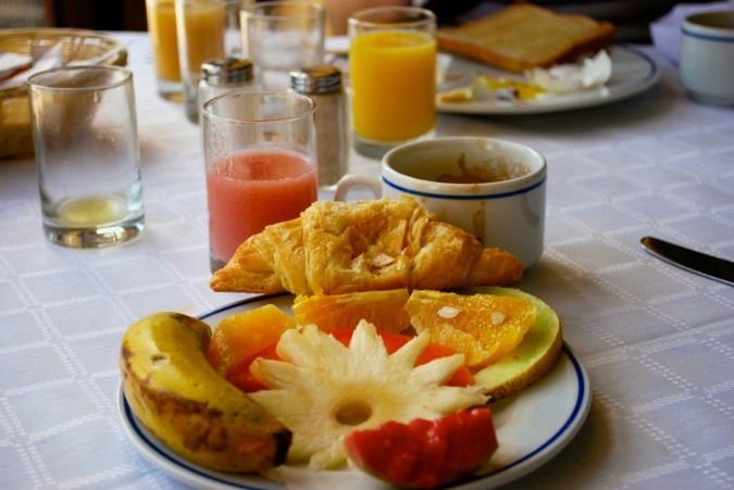 Typical Cuban breakfast