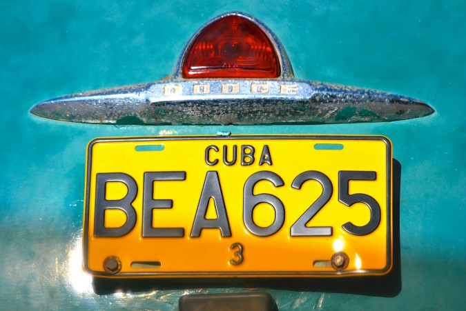 A Cuban license plate