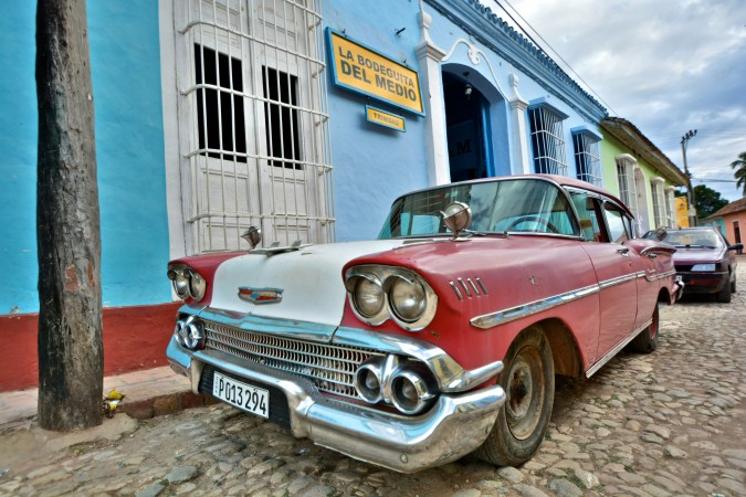 An old classic car seen on the streets of Trinidad