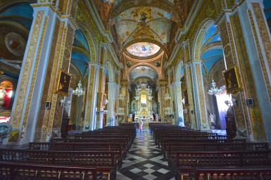 Inside the Iglesia de la Merced in Havana, Cuba. Construction began in 1755 and the church is still in use today.