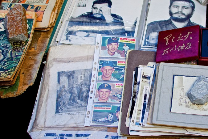 Baseball is the national pastime in Cuba and people of all ages play and watch it. Baseball cards are of great value and are not often found for sale in Havana.