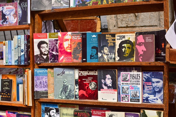 Books about the Revolution and its leaders, such as Che Guevara and Fidel Castro, are a dime a dozen. They've been written for both children and adults. These are found in schools, stores, and markets all over the country.