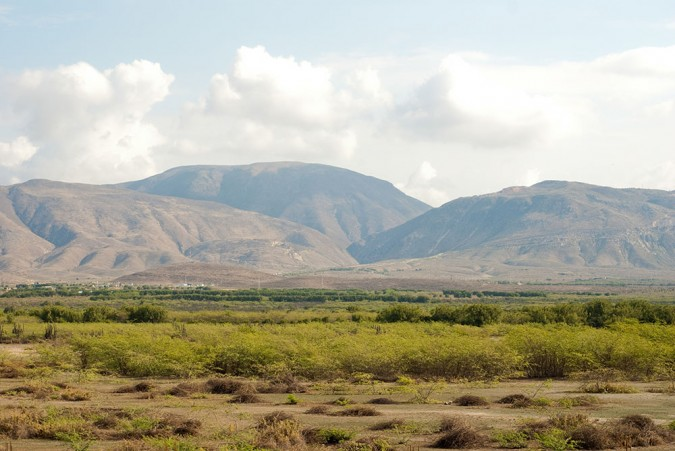 Barren mountains surrounding a desert – this was NOT how I pictured Haiti