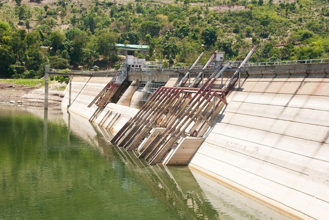 Three turbines provide clean, hydroelectric power. However, only one is currently being used. Peligre Dam could operate at three times its current output.