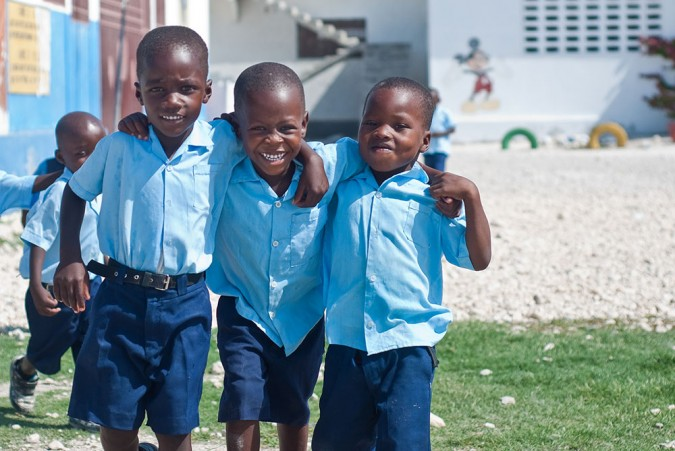 The children that go to NVM's school stand out – they're healthier, brighter, and livelier