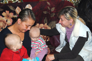 Home visits are a regular part of MTU's ministry in Zhytomyr