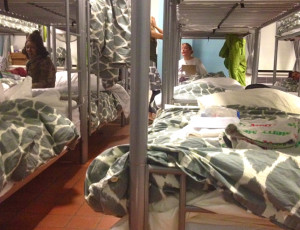 Bunks at NYC Rescue Mission