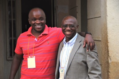 Joe, the lawyer from Kenya with Dr. David Kasali (right)