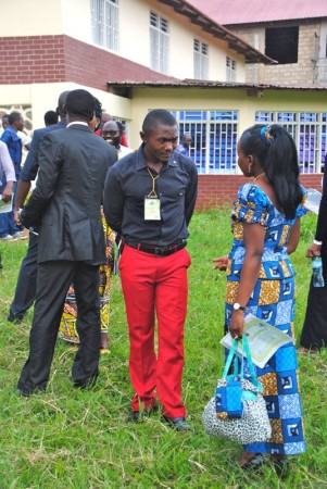 Lawyers chatting at the conclusion of the conference in Beni