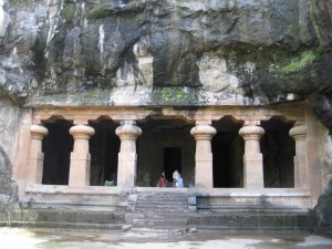 One of the Elephanta Island caves.