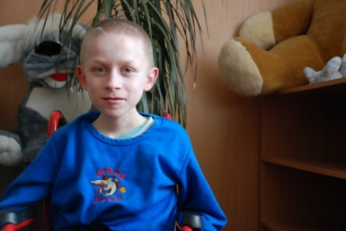 Though his body is confined to a wheelchair, Peter's mind is free and healthy.