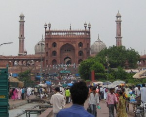 The city of Delhi, a throbbing metroplolis with over 17 million inhabitants.