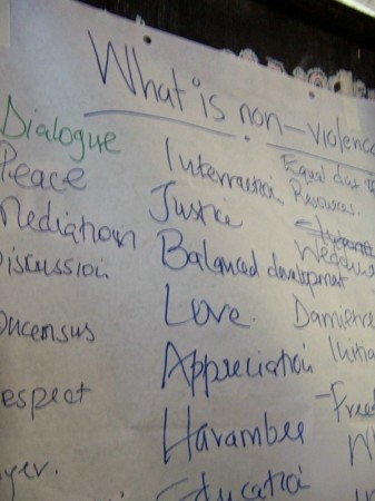 "AVP participants came up with many definitions for ""non-violence."""
