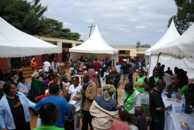 Even with throngs of people, the camp was really organized!