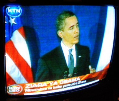 Even the slightest mention of Kenya by Obama, and the local news will be all over it...