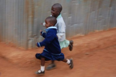 Kids come running when they see an mzungu...