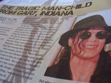 The newspaper had a 10-page full-color souvenir insert to honor Michael Jackson.