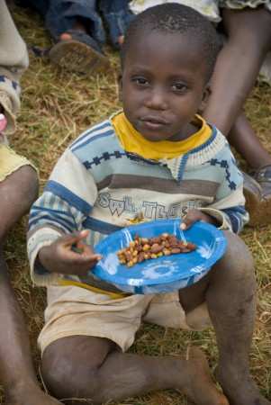 It's hard knowing that this child doesn't know when his next meal will be.  That's not a problem with a quick fix.