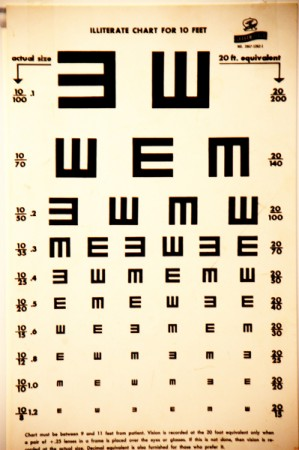 An eye chart for illiterate patients, a need for this exists even in Hamiliton County.