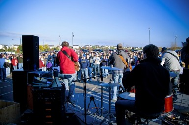 The Grace worship band in action.