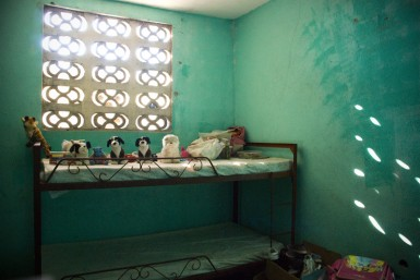The girls' room at the orphanage.