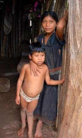 Two Ngöbe children.  It breaks my heart to see so many distended bellies here.