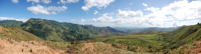 A view from the top of one of the many hills I climbed.  (Click the image to see the full size panorama!)