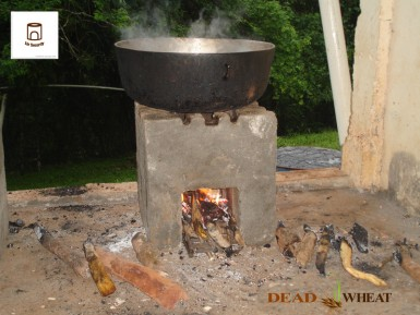 One of Dead Wheat's prototype stoves (the current version is round).